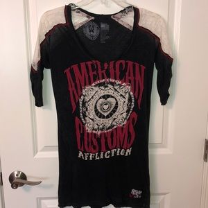 Affliction v-neck shirt